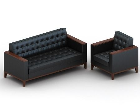 sofa da vang phong