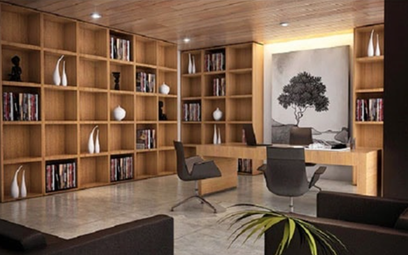 Bố trí tủ phù hợp với kích thước văn phòng