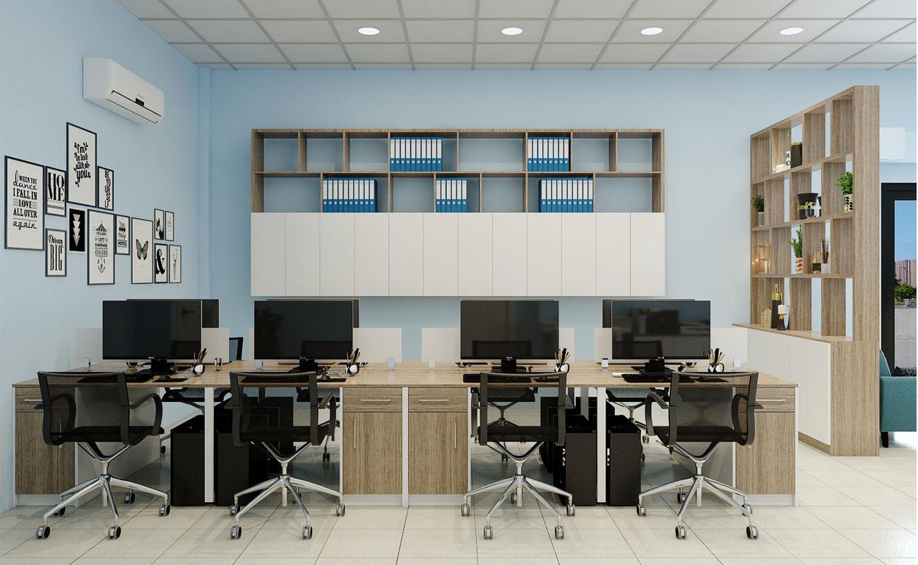 Bố trí văn phòng hợp lý giúp căn phòng thêm đẹp hơn